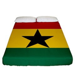 Flag of Ghana Fitted Sheet (California King Size)