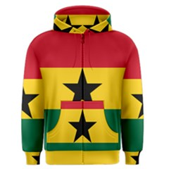Flag of Ghana Men s Zipper Hoodie