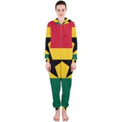 Flag of Ghana Hooded Jumpsuit (Ladies)