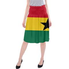 Flag of Ghana Midi Beach Skirt