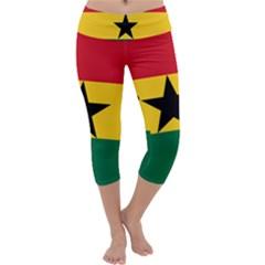 Flag of Ghana Capri Yoga Leggings