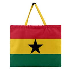 Flag of Ghana Zipper Large Tote Bag