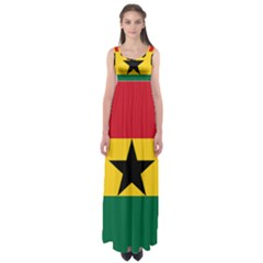 Flag of Ghana Empire Waist Maxi Dress
