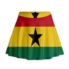 Flag of Ghana Mini Flare Skirt