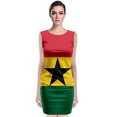 Flag of Ghana Sleeveless Velvet Midi Dress