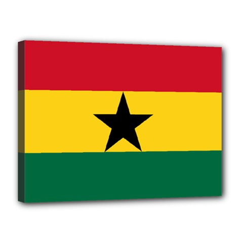 Flag of Ghana Canvas 16  x 12