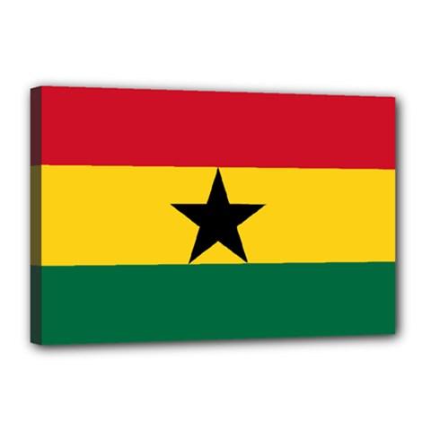 Flag of Ghana Canvas 18  x 12