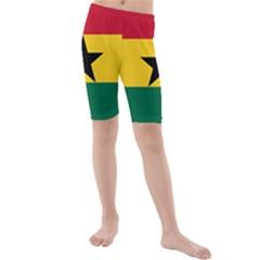 Flag of Ghana Kids  Mid Length Swim Shorts