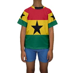Flag of Ghana Kids  Short Sleeve Swimwear