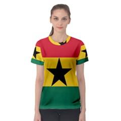 Flag of Ghana Women s Sport Mesh Tee
