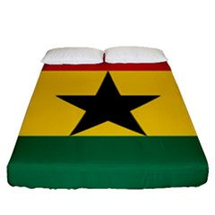 Flag of Ghana Fitted Sheet (Queen Size)