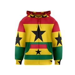 Flag of Ghana Kids  Zipper Hoodie