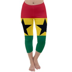 Flag of Ghana Capri Winter Leggings