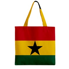 Flag of Ghana Zipper Grocery Tote Bag