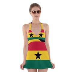 Flag of Ghana Halter Swimsuit Dress