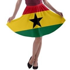 Flag of Ghana A-line Skater Skirt
