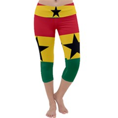 Flag of Ghana Capri Yoga Leggings