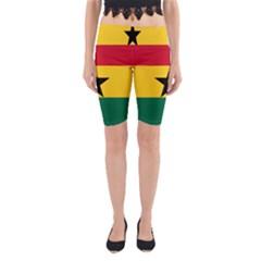Flag of Ghana Yoga Cropped Leggings