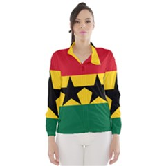 Flag of Ghana Wind Breaker (Women)