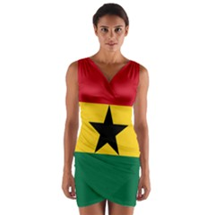 Flag of Ghana Wrap Front Bodycon Dress