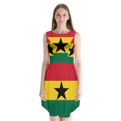 Flag of Ghana Sleeveless Chiffon Dress