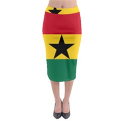 Flag of Ghana Midi Pencil Skirt