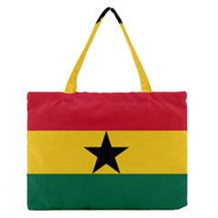 Flag of Ghana Medium Zipper Tote Bag