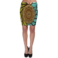 Kaleidoscope Dream Illusion Bodycon Skirt