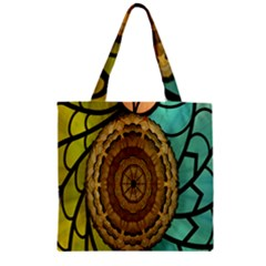 Kaleidoscope Dream Illusion Zipper Grocery Tote Bag