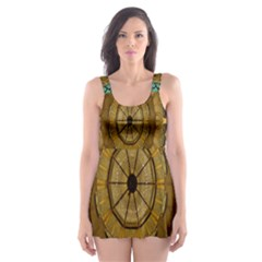 Kaleidoscope Dream Illusion Skater Dress Swimsuit