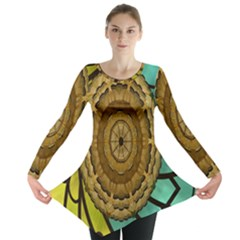 Kaleidoscope Dream Illusion Long Sleeve Tunic