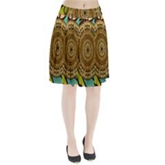 Kaleidoscope Dream Illusion Pleated Skirt