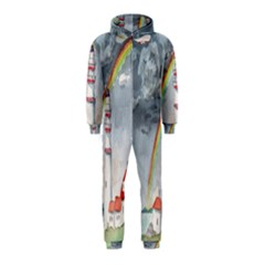 Watercolour Lighthouse Rainbow Hooded Jumpsuit (kids)