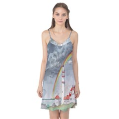 Watercolour Lighthouse Rainbow Camis Nightgown