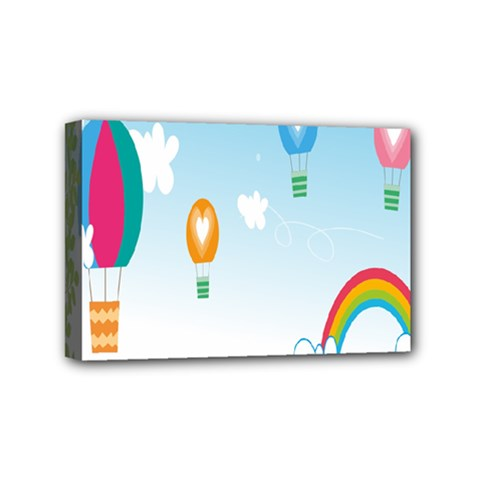 Landscape Sky Rainbow Garden Mini Canvas 6  x 4