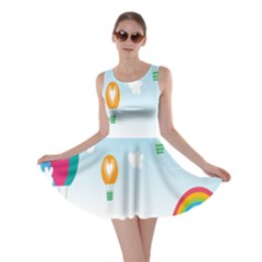 Landscape Sky Rainbow Garden Skater Dress