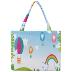Landscape Sky Rainbow Garden Mini Tote Bag