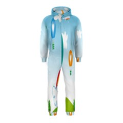 Landscape Sky Rainbow Garden Hooded Jumpsuit (kids)