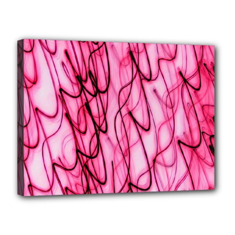 An Unusual Background Photo Of Black Swirls On Pink And Magenta Canvas 16  X 12