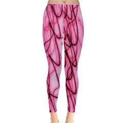 An Unusual Background Photo Of Black Swirls On Pink And Magenta Leggings