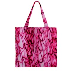 An Unusual Background Photo Of Black Swirls On Pink And Magenta Grocery Tote Bag