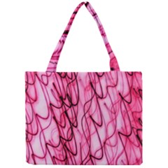 An Unusual Background Photo Of Black Swirls On Pink And Magenta Mini Tote Bag