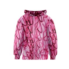 An Unusual Background Photo Of Black Swirls On Pink And Magenta Kids  Pullover Hoodie