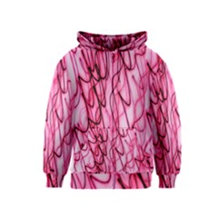 An Unusual Background Photo Of Black Swirls On Pink And Magenta Kids  Zipper Hoodie