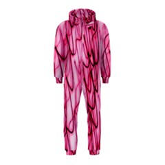 An Unusual Background Photo Of Black Swirls On Pink And Magenta Hooded Jumpsuit (kids)