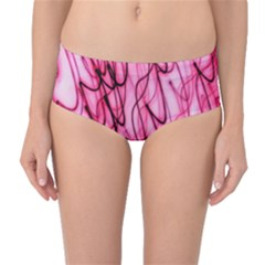 An Unusual Background Photo Of Black Swirls On Pink And Magenta Mid Waist Bikini Bottoms