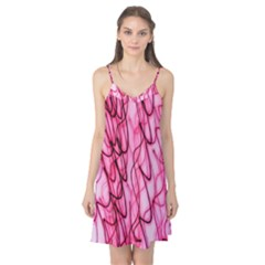 An Unusual Background Photo Of Black Swirls On Pink And Magenta Camis Nightgown