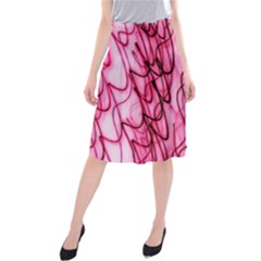 An Unusual Background Photo Of Black Swirls On Pink And Magenta Midi Beach Skirt