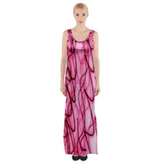 An Unusual Background Photo Of Black Swirls On Pink And Magenta Maxi Thigh Split Dress