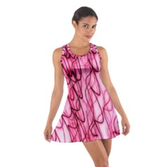 An Unusual Background Photo Of Black Swirls On Pink And Magenta Cotton Racerback Dress